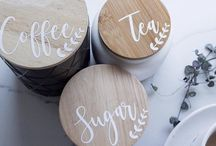 Tea Coffee Sugar Canister Labels