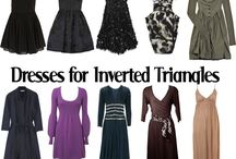 Inverted triangle dresses