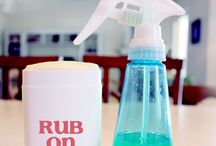 homemade deodorant spray and roll