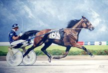 Race Horses in Art 13- Famous European Trotters