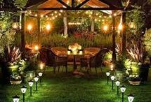 Padio & Outdoor  Lighting  Ideas / An outdoor space is made great with lighting. Whether it's your outdoor entertainment area or a small town house deck, any backyard can benefit from patio and outdoor lighting.