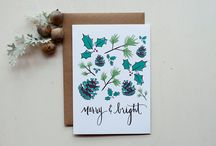 Holiday Lettering Class inspiration