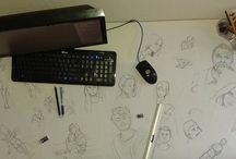 Créations / Tous ces petits dessins, gribouillis, schémas, graphismes, qu'on fait par-ci par-là...