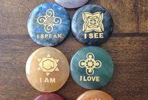 Minerály, meditace, prostor