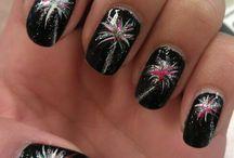 Bonfire night nails