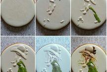 Biscoitos decorados - pinturas