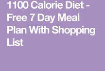 1100 Calorie Diet Plan