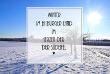 Winter im Bitburger Land - Eifel / Verschneite Täler und Berge, idyllische Orte. Das Bitburger Land ist ein Wintermärchen