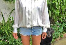 śliskie bluzki retro