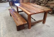 Dining Tables / Custom Reclaimed Wood Dining Tables by  OldGrowthRiverwood.com