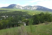 The Crimean mountains and the Black Sea
