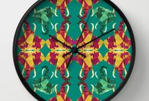 Wall Clocks! / Wall clocks with colourful patterns designed by me!