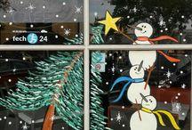 Xmas window painting