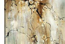 Blütenzweig abstrakt