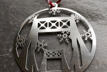 Christmas ornaments / Steel Town Christmas by Audra Azoury