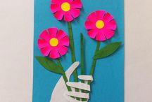 Kukkakortti äidille