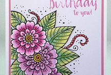 Coloring Cards with pencils