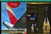 Ronda Iberia recomienda de nuevo VIN DORÉ 24K / Ronda Iberia recomienda de nuevo VIN DORÉ 24K  Cava y vino espumoso con auténtico polvo de oro de 24K  http://vindore.com/inicio.html