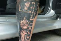 slash tattoo