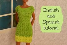 Vestidos barbie crochet