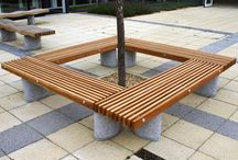 Pinewood Infant School Project (Farnborough) / Factory Furniture were asked to design some seating to go around a tree in the school courtyard that complimented the Serpentine seats that were already installed there.