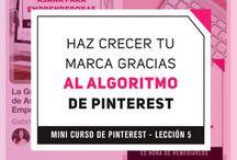 Mini Curso de Pinterest / Aquí encontrarás 5 lecciones con tips esenciales para aprender a usar Pinterest para tu negocio. Ingresa a cada post y realiza el reto de cada lección para marcar la presencia de tu negocio en Pinterest!