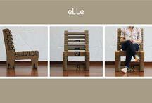 The eLLe chair DIY / product design_cardboard chair_DIY_tutorial