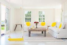 Декорируем желтым цветом / Ничто не может украсить, оживить и взбодрить, как желтый цвет! Летние солнечные лучи не только делают нас смуглее, но и счастливее.