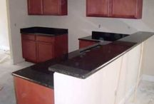 Granite-Red Wood Cabinets / Granite colors that look great with red wood cabinets