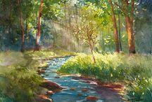 수채화 숲