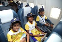 #FlightOfFantasy 2015 / Dreams came true for over 130 kids from NGOs & institutes onboard our #FlightOfFantasy celebrations with Yuvraj Singh. More : http://bitly.com/115F6nC