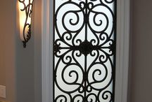 Wrought iron for glass