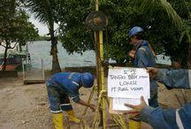 TANKI BBM 500 -PT. Rusel victory TJ.UNCANG / Kita Telah menyelesaikan Pekerjaan Soil Investigation di Tj. Uncang