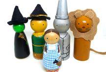 wooden peg doll