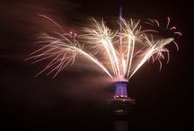 New Years 2016 Fireworks - Auckland, New Zealand / New Years 2016 Fireworks - Auckland, New Zealand - Danscottphoto.com