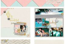 Scrapbooking Layouts / We look to others for inspiration when creating our own scrapbooking layouts.