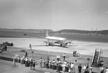 Aircraft - CAA Viscount in - Durban with SAPREF refinery and bluff cut in backgroundReg