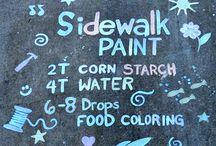 Outdoor Sidewalk paint &
