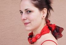 Silk Lyli - handmade - necklaces / Handnade, silk, scarf www.mojehedvabi.cz