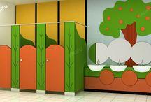 School Toilet Cubicles