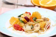 Salads / Healthy and tasty salad ideas   Gezonde en lekkere salade ideeën