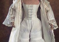 Underwear, antique dolls
