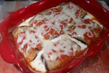 EGGPLANT ROLLATINI  gluten free / Kitchen Wisdom Gluten Free Eggplant Rollatini Recipe  http://kitchenwisdomglutenfree.com/2013/12/06/eggplant-rollatini-gluten-free-forget-what-you-know-about-wheat-december-2013/