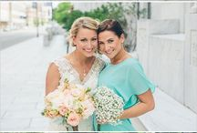 Mint teal coral wedding