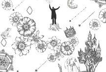 line / 線画の作品です。 #line #線画 #animal #frame #枠 #動物 #広告 #花 #flower #デザイン #お洒落 #可愛い #線画 #コラージュ #illustration #kanakobayashi #art #illust
