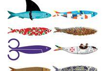 diseño peixes latas