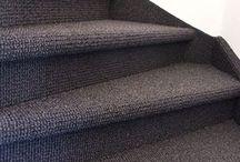 Trapbekleding / het bekleden en stofferen van open en dichte trappen met tapijt in alle kleuren van Desso