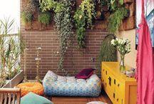 Colorful balcony / Colorful balcony decor ideas