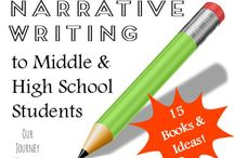Narrative Writing / Do you teach narrative writing? Here are some lesson plan ideas, tips, and tricks for teaching narrative writing to middle school writers.