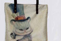 """Текстильная сумка """"Чешир 2"""""""